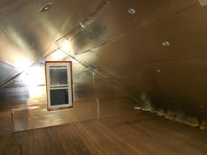 A Fayetteville attic with SuperAttic installed.