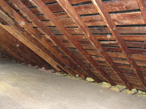 A Arkansas attic before installation of SuperAttic
